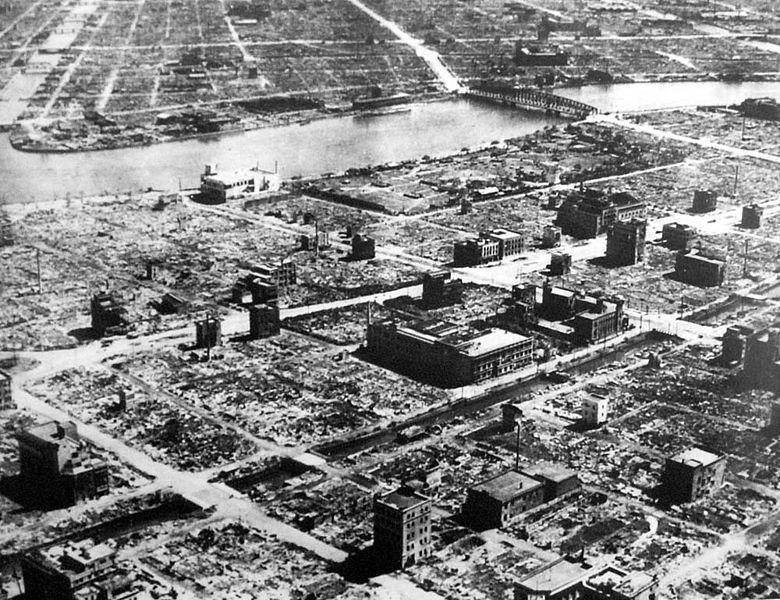 Un quartier de Tokyo après le 10 mars 1945